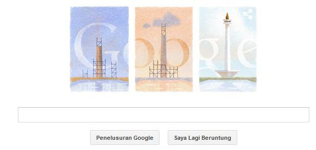 Hari ini! Google Doodle untuk Monumen Nasional