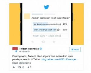 Twitter Hadirkan Fitur Terbaru Twitter Polls, Melakukan Polling Jadi Lebih Praktis